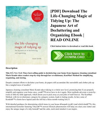 the life changing magic of tidying up epub free download